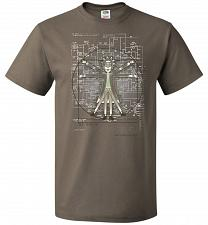 Buy Vitruvian Rick Unisex T-Shirt Pop Culture Graphic Tee (3XL/Safari) Humor Funny Nerdy