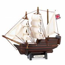 Buy 14750U - Historical Miniature Mayflower Ship Model Wood Cotton