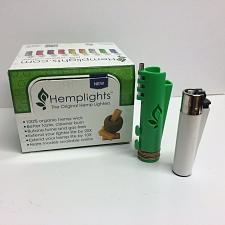 Buy GREEN HEMPLIGHTS™ OG HEMP WICK LIGHTER CASE + FREE CLIPPER™ LIGHTER - NEW
