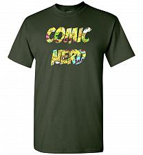 Buy Comic Nerd Unisex T-Shirt Pop Culture Graphic Tee (L/Forest Green) Humor Funny Nerdy