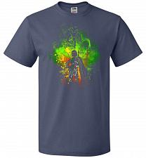 Buy Mandalore Art Unisex T-Shirt Pop Culture Graphic Tee (L/Denim) Humor Funny Nerdy Geek