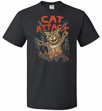 Buy Cat Attack Unisex T-Shirt Pop Culture Graphic Tee (5XL/Black) Humor Funny Nerdy Geeky