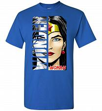 Buy Wonder Woman Unisex T-Shirt Pop Culture Graphic Tee (L/Royal) Humor Funny Nerdy Geeky