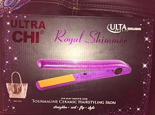 Buy CHI ULTA Tourmaline Ceramic Hairstyling Flat Iron Royal Shimmer TOTE $150 Nib