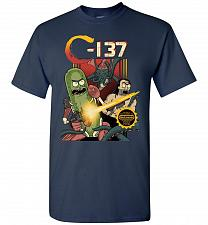 Buy C-137 Schwifty Squad Unisex T-Shirt Pop Culture Graphic Tee (2XL/Navy) Humor Funny Ne