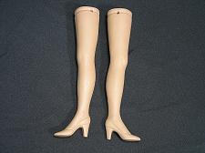Buy Vintage Bisque Porcelain Doll Legs 8 inch African American Flange Heel Shoe NOS