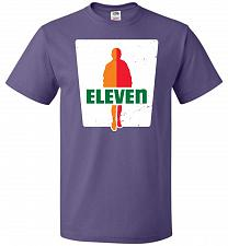 Buy 0-Eleven Unisex T-Shirt Pop Culture Graphic Tee (6XL/Purple) Humor Funny Nerdy Geeky