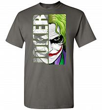 Buy Joker Unisex T-Shirt Pop Culture Graphic Tee (4XL/Charcoal) Humor Funny Nerdy Geeky S
