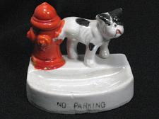 Buy Vintage Porcelain Dog Peeing on Hydrant Figural Ashtray Snuffer Japan No Parking