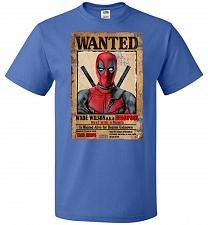 Buy Deadpool Wanted Poster Youth Unisex T-Shirt Pop Culture Graphic Tee (Youth M/Royal) H