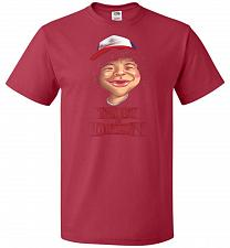 Buy Trust In Dustin Unisex T-Shirt Pop Culture Graphic Tee (L/True Red) Humor Funny Nerdy