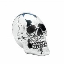 Buy *17014U - Shining Silver Skull Skeleton Head Figure