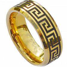 Buy coi Jewelry Tungsten Carbide greek key Patten Ring