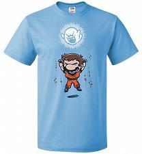 Buy Spirit Bomb Unisex T-Shirt Pop Culture Graphic Tee (5XL/Aquatic Blue) Humor Funny Ner