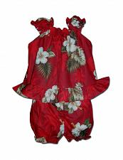 Buy Baby Girls Tropical Ka Pua Top & Bottom Diaper Cover Set #176-2798 size 18 MO