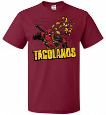 Buy Tacolands Unisex T-Shirt Pop Culture Graphic Tee (L/Cardinal) Humor Funny Nerdy Geeky