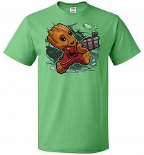 Buy Tiny Groot Unisex T-Shirt Pop Culture Graphic Tee (XL/Kelly) Humor Funny Nerdy Geeky