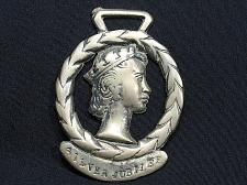 Buy Horse Brass Antique Vintage Decorative Tack Bridle Queen Silver Jubilee Rare