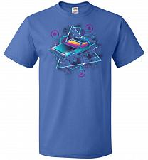 Buy Retro Wave Time Machine Unisex T-Shirt Pop Culture Graphic Tee (M/Royal) Humor Funny