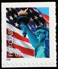 Buy 2006 39c Statue of Liberty & Flag, Single from Pane, SA Scott 3966 Mint F/VF NH