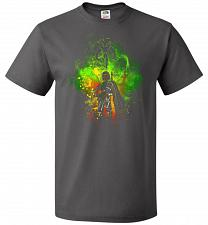 Buy Mandalore Art Unisex T-Shirt Pop Culture Graphic Tee (S/Charcoal Grey) Humor Funny Ne