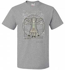 Buy Vitruvian Rick Unisex T-Shirt Pop Culture Graphic Tee (6XL/Athletic Heather) Humor Fu