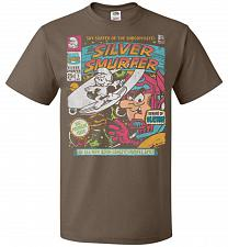 Buy Silver Smurfer Unisex T-Shirt Pop Culture Graphic Tee (6XL/Chocolate) Humor Funny Ner