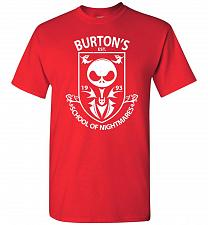 Buy Burton's School Of Nightmares Unisex T-Shirt Pop Culture Graphic Tee (L/Red) Humor Fu