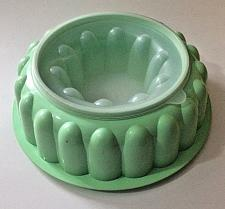"Buy 9"" Vintage Green Tupperware Jello Salad Mold #1202-6 Mold and Insert Only NO LID"