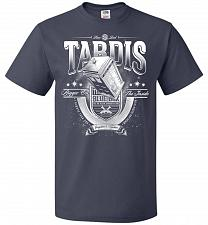 Buy Anywhere and Everywhere Tardis Unisex T-Shirt Pop Culture Graphic Tee (2XL/J Navy) Hu
