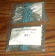 Buy Lot of 200: 1/2W 237 Ohm Metal Film Resistors