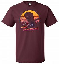Buy The Babysitter Unisex T-Shirt Pop Culture Graphic Tee (M/Maroon) Humor Funny Nerdy Ge