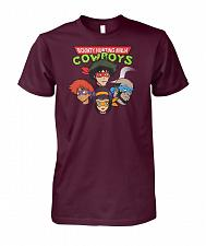 Buy Bounty Hunting Ninja Cowboys Unisex T-Shirt Pop Culture Graphic Tee (M/Maroon) Humor