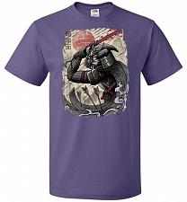 Buy Dark Samurai Unisex T-Shirt Pop Culture Graphic Tee (2XL/Purple) Humor Funny Nerdy Ge