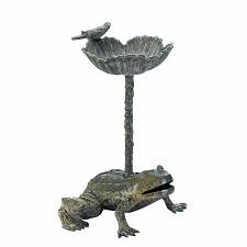 Buy *17612U - Water Lily Basin Frog Base Garden Birdbath Yard Art
