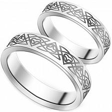 Buy coi Jewelry Platinum White Titanium Celtic Wedding Band Ring