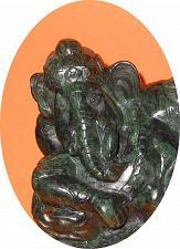 Buy Burmese carved Jade Reclining Ganesh 11 cm tall Beautiful VERY RARE