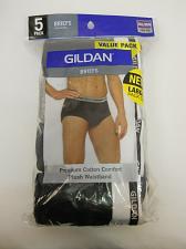 Buy Briefs 5 Pack Mens SIZE 2XL 44-46 Plush Waistband Solid Assorted GILDAN