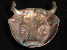 Buy Bull Head Dish Ashtray Brass Copper Trinket Cast