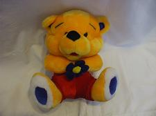 Buy 11 Inches Yellow Teddy Bear Red Pants & Blue Flower