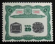 Buy 1992 29c New York Stock Exchange, Bicentennial Scott 2630 Mint F/VF NH