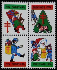 Buy 1974 American Lung Association Christmas Seals, Block of 4 Scott WX Mint F/VF NH