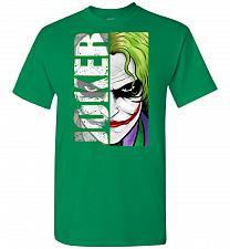 Buy Joker Unisex T-Shirt Pop Culture Graphic Tee (XL/Turf Green) Humor Funny Nerdy Geeky