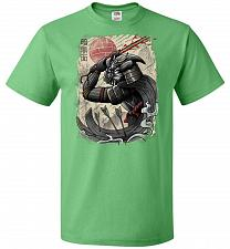 Buy Dark Samurai Unisex T-Shirt Pop Culture Graphic Tee (4XL/Kelly) Humor Funny Nerdy Gee