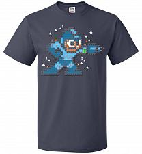 Buy Mega Maker Unisex T-Shirt Pop Culture Graphic Tee (L/J Navy) Humor Funny Nerdy Geeky