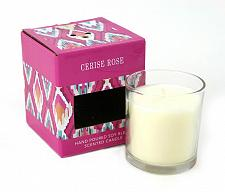 "Buy :10650U - Cerise Rose Scented White Candle 4"" Glass Cup"