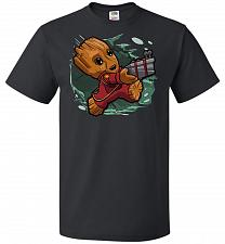 Buy Tiny Groot Unisex T-Shirt Pop Culture Graphic Tee (XL/Black) Humor Funny Nerdy Geeky
