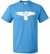 Buy Winter Is Here Unisex T-Shirt Pop Culture Graphic Tee (2XL/Pacific Blue) Humor Funny