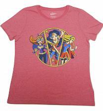 Buy Graphic T- Shirt DC COMICS SUPERHERO Girls Size XL 14-16 Pink Short Sleeves