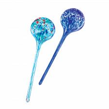 Buy 12683U - Blue Multi-Color Glass Plant Watering Globe Stakes